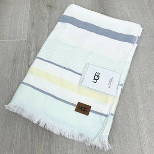 Ugg Pearson Beach Towel Striped Agave Glow Cotton
